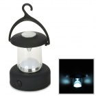 YT-811 White Light 1-LED Camping Lantern with Hanging Hook - Black (3 x AAA)