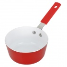 Mini Aluminum Milk Pan / Frying Pan / Soup Pan / Non-Stick Pan - Red + Silver + Ivory