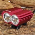 RUSTU DR-200 870lm 4-Mode White Bicycle Light w/ 2 x Cree XM-L T6 - Red (4 x 18650)