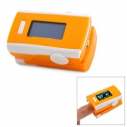"1.2"" LCD Digital Clip-On Finger Pulse Oxygen / Blood Oximeter w/ Alarm - Orange + White (2 x AAA)"