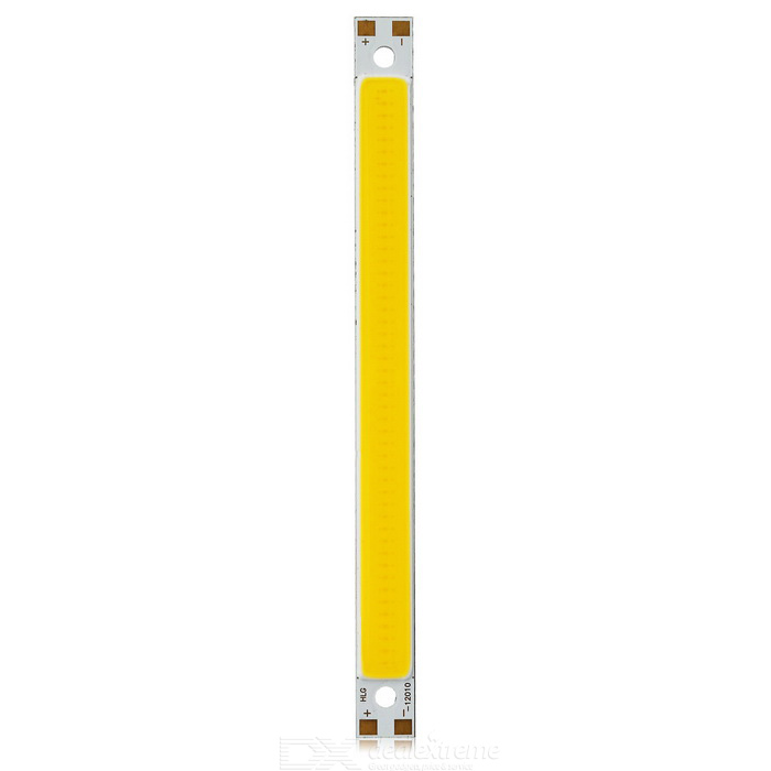 DIY 5W 500lm 3300K Warm White Light COB 16-LED Rectangle Strip - Yellow + White (DC 12~14V)