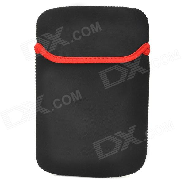 "Protective Water Resistant Anti-Static Sleeve Bag for 7"" GPS / Tablet PC - Black + Red"