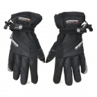 Scoyco MC18 Motorcycle Reflective Water Resistant Gloves for Touch Screen - Black (Pair / Size L)