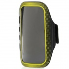 Professional Sports Armband w/ Stylus Pen for Samsung S4 i9500 - Yellow + Black