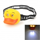 LT-20E Cute Duck Style 10lm 13000mcd 2-Mode 2-LED Neutral White Light Headlamp for Children