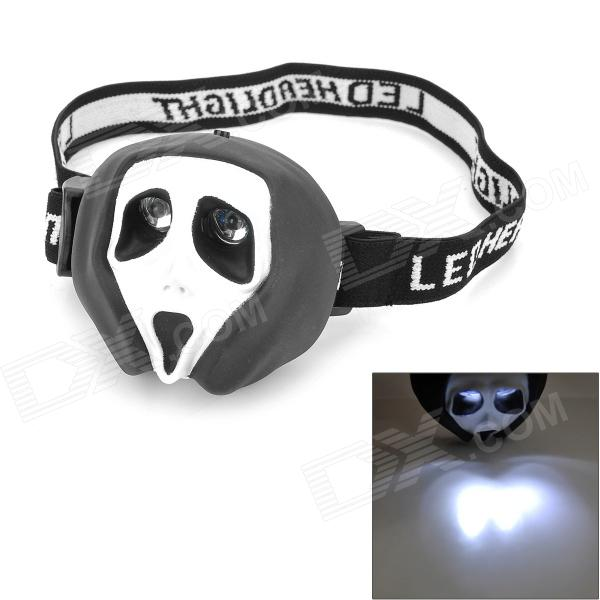 LT-20K Cool Skull Style 37lm 13000mcd 2-Mode 2-LED Neutral White Light Headlamp for Children portable 2 mode 2 led cool white light headlamp white blue multi color