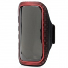 Professional Sports Armband w/ Stylus Pen for Samsung S4 i9500 - Red + Black