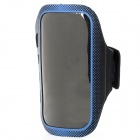 Professional Sports Armband w/ Stylus Pen for Samsung S4 i9500 - Blue + Black