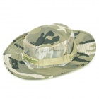 Cotton + Mesh Cloth Sun Block Soft Quick Dry Hat Cap for Fishing / Camping - Camouflage Green