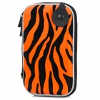 "Protective Zippered Carrying Bag for 2.5"" HDD / MP3 / MP4 - Orange Red + Black"