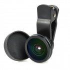 LieQi Clip-On 190' Fish Eye Lens for Iphone + Ipad + More - Black