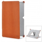 Rock Texture PU Leather Case for Microsoft Surface - Brown