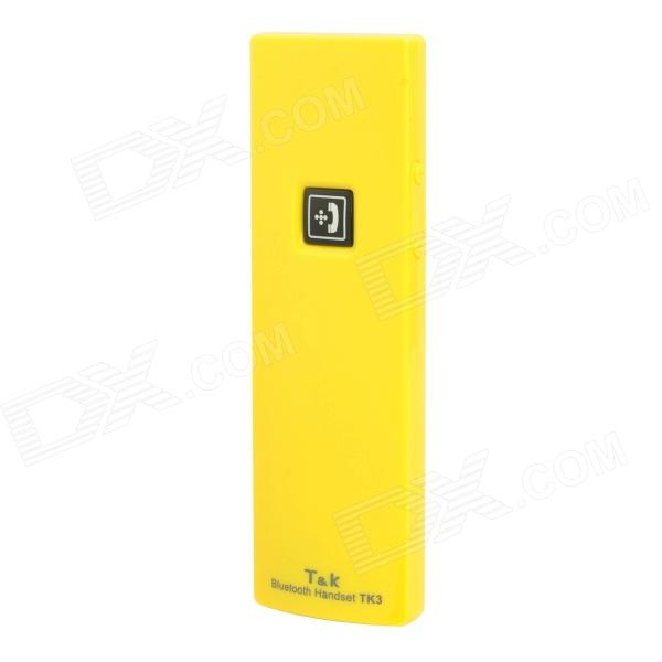 TK3 Wireless Bluetooth Receiver with Microphone - Yellow
