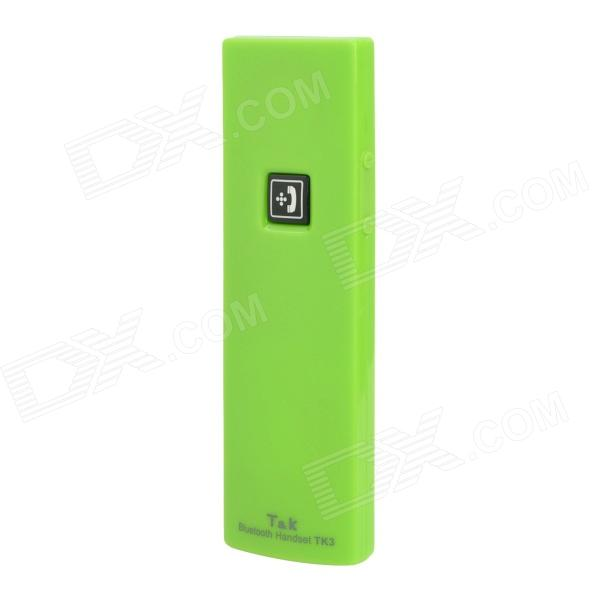 TK3 Radiation Protection Wireless Bluetooth Handset Receiver with Microphone - Green
