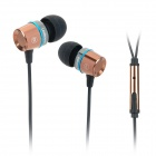 Leadsound EP1202 In-Ear Earphone w/ Microphone - Coffee + Black