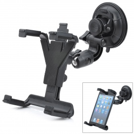 ZY-0133 Universal Car Mount Holder w/ Suction Cup for Tablet PC - Black