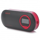 "ZEMEI V8 1.1"" LCD Mini Rechargeable USB FM Radio Speaker w/ TF - Black + Red (3.5mm Jack / DC 5V)"