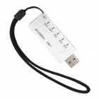 3-in-1 SD / TF Card Reader + USB FM Transmitter - White