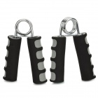WIN.MAX WMF09983 A Shape Muscle Training Foam Hand Grip - Black + Grey (2 PCS)