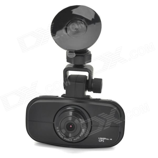 GS900 Full-HD 1080P 2.7 TFT 5.0MP CMOS Wide Angle Car DVR w/ Night Vision - Black g1wh 2 7 tft 3 0mp cmos full hd 1080p 140 degree wide angle car dvr w g sensor tf black
