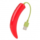 Chili Peppers Shaped USB 2.0 4-Port HUB - Red