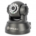 CPTCAM 1/3 CMOS 300KP Wireless Wi-Fi Network IP Camera w/ 10-LED IR Night Vision - Black