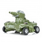 27MHz / 40MHz 3-Channel Remote Control Amphibious Tank - Army Green