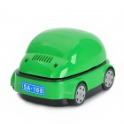 SA168 Car Shape Car Smokeless Ashtray - Green (2 x AA / USB Power)