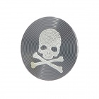 Unique Skull Pattern Aluminum Alloy Home Button Sticker for Iphone / Ipod / Ipad - Grey