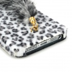 Cute Tiger Style TPU + étui en molleton w / Ear + Tail pour Iphone 5 - Noir + Blanc