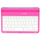 BT20730 Wireless BluetoothV3.0 59 Keys Keyboard for Ipad MINI - Deep Pink + White + Silver + Blue