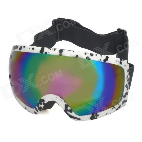 T815-27 Motorcycle Skiing UV400 Protection Reflective Goggles - White + Black станок д бритья gillette venus breeze 2 кассеты