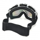 T815-27 Motorcycle Skiing UV400 Protection Reflective Goggles - White + Black