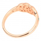 KCCHSTAR BK-R015 Stylish 18K Alloy CrystalFinger Ring - Multicolored