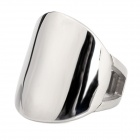 6-9 Cool Ellipse Shape Stainless Steel Ring for Men - Silver