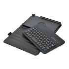 LW-MI NI 360 Degree Rotatable Bluetooth V3.0 59-Key Keyboard Case for iPad Mini - Black