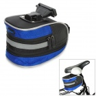 Giant Cycling Bicycle Bike Saddle Seat Tail Bag - Blue + Black