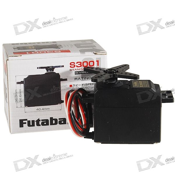 Futaba S3001 Servo with Gears and Parts (2.4~3.0kg Torque)