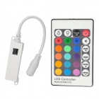 RGB LED Light Strip 24-Key Controller + Receiver Set - White + Multicolored