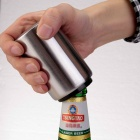 L225 Creative Stainless Steel Auto Beer Bottle Opener - Silver + Black