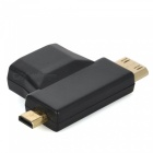 Micro HDMI / Mini HDMI / HDMI till VGA + 3.5MM Audio / Video Adapter - Svart