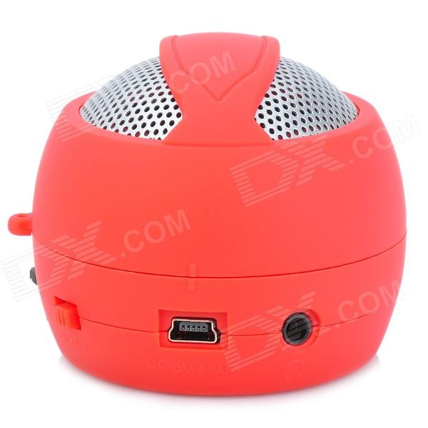 Hamburger Style Cute Rechargeable Media Player Speaker w/ TF - Red