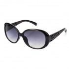 Fashion UV400 Protection Resin Lens Sunglasses - Black