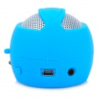 S7 Hamburger Style Cute Rechargeable Media Player Speaker w/ TF - Blue