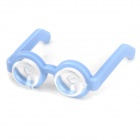 Chic Cute Glasses Style Dual Suction Cup Stand Holder for Mobile Phones - Light Blue
