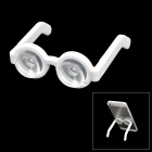Chic Cute Glasses Style Dual Suction Cup Stand Holder for Mobile Phones - White