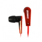 SOMiC MH401 Anti-Winding Wire T-Magnet Attraction Housing In-Ear Earphone - Black + Red (120cm)