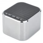 ZEMEI V6 Portable Zinc Alloy Mini Speaker w/ TF Slot / FM - Black + Silver