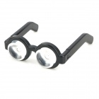Chic Cute Glasses Style Dual Suction Cup Stand Holder for Mobile Phones - Black