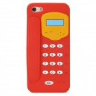 Telephone Style Protective Silicone Back Case for Iphone 5 - Red + Yellow + White